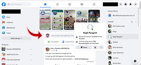 Tampilan facebook baru 2020