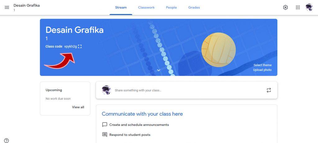 kode untuk masuk sebagai siswa di google classroom