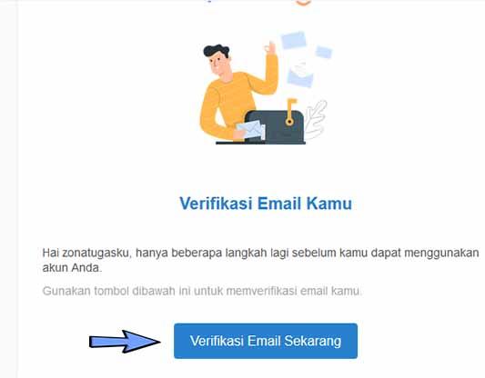 Klik link veerifikasi email dari prakerja