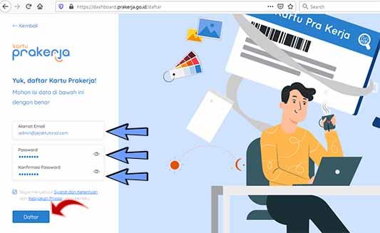 cara daftar online di prakerja