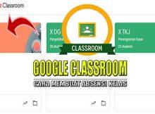 Cara membuat absensi kelas di google classroom
